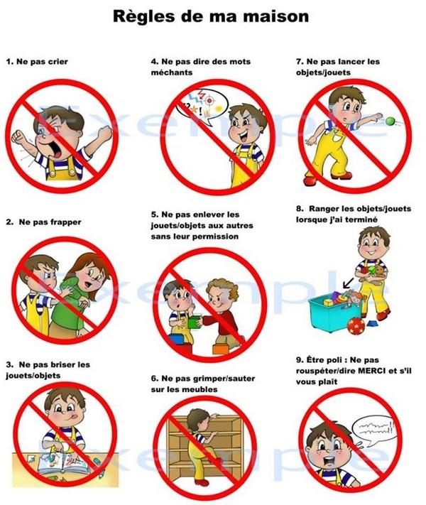 Tableau Des Regles De Vie A La Maison ma nounou déchire » les règles de vie